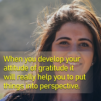 an attitude of gratitude is important