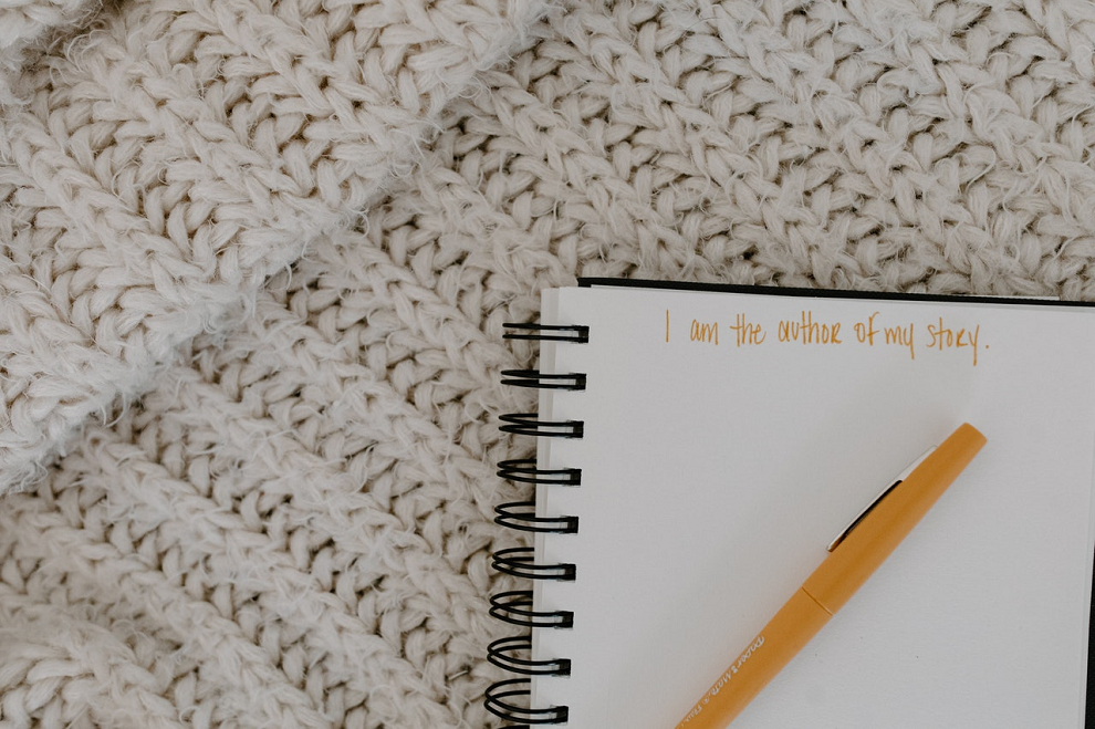 journal with positive affirmations